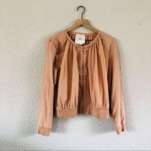 Anthropologie HEI HEI Peach Bomber Jacket